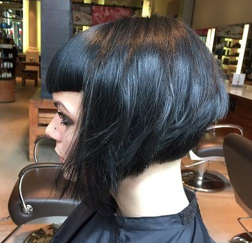 Stacked Bob Hairstyles cute short stacked bob hair style 7stacked Bob With Bangs