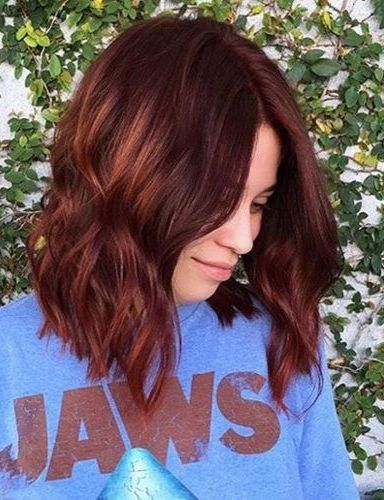 30 dark red hair color ideas sultry showstopping styles give your dark auburn hair a little boost of color with natural looking copper highlights this easy pick me up can warm up your style in time for spring or pmusecretfo Choice Image