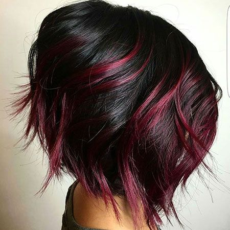 30 dark red hair color ideas sultry showstopping styles 3burgundy balayage bob urmus Images