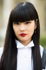 20 different types of bangs to flatter and frame your face the straight line created by these long blunt bangs cuts dramatically across the face creating a bold eye popping look because these bangs are wide yet urmus Images
