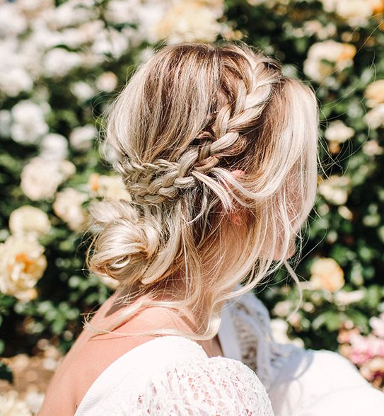 Loose Braid And Up Do: 50 Beautiful Easy Updos For Trendy Long Haired Ladies