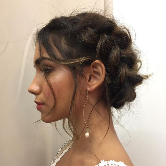 Braided Crown Wedding Hairstyle: 50 Beautiful Easy Updos For Trendy Long Haired Ladies