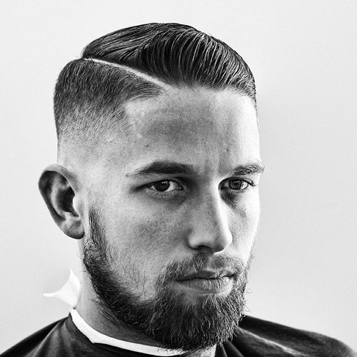 19 Classy Hairstyles For Men: Mens Modern Comb Over Hairstyle 30 Hard Part Haircut Ideas