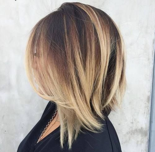 Blonde balayage hair colors with highlights balayage blonde part 6 although balayage highlights tend to be seen most often on longer hair they work with shorter styles too a dramatic blonde balayage helps to elevate this pmusecretfo Choice Image