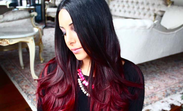 22 fiery red ombre hair color ideas 5glamorous red on black ombre urmus Gallery