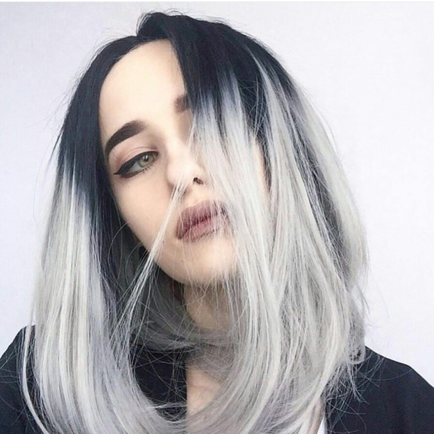 The Best Antique Chic Black To Grey Ombre Hairstyles