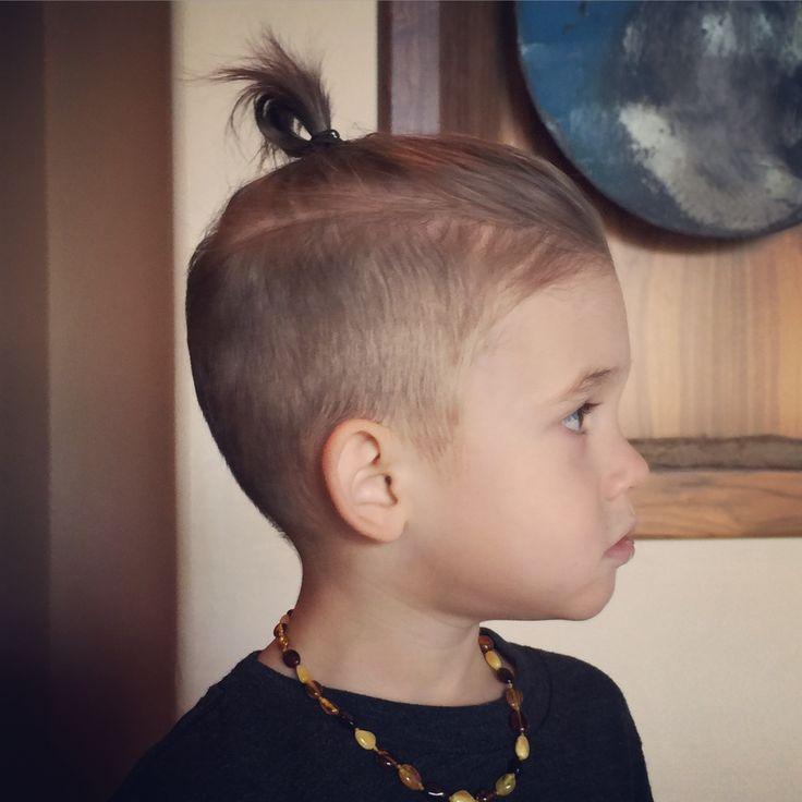 30 toddler boy haircuts for cute stylish little guys 29undercut with top knot urmus Choice Image