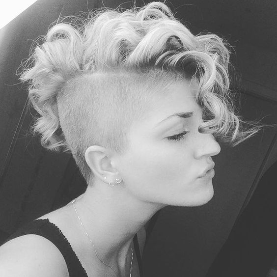 Best Short Curly Hairstyles You'll Fall In love With Undercut Mohawk