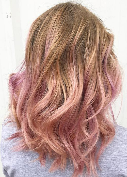 Rose Gold Blush Hair Color Newhairstylesformen2014com Of