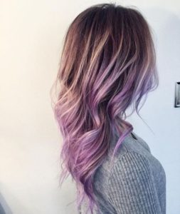 Light Lavender Touch Balayge