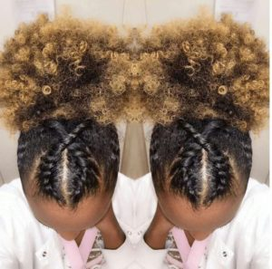 crossed twist puff style