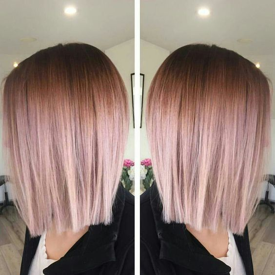 35 Sparkling Amp Brilliant Rose Gold Hair Color Ideas
