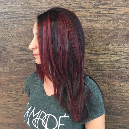 30 maroon hair color ideas for sultry reddish brown styles part 16 about the balayage and ombre hair color trends try a style with more evenly distributed highlights this style brings a fun pop of maroon color to dark pmusecretfo Gallery