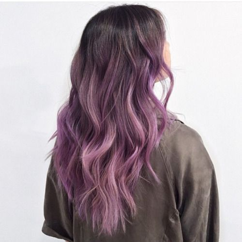 30 brand new ultra trendy purple balayage hair color ideas for Purple mauve color