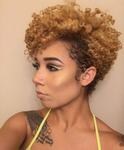 sculpted tapered curls