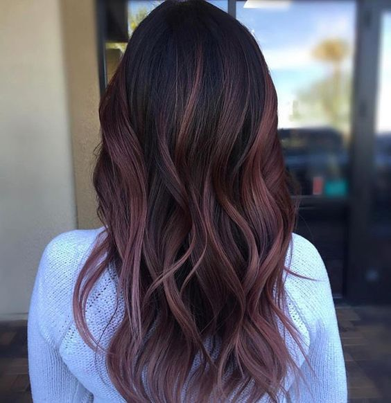 30 maroon hair color ideas for sultry reddish brown styles a subtle shade of muted maroon creates a sophisticated looking balayage style over natural black hair try this dusty hue if youre looking for a maroon urmus Gallery