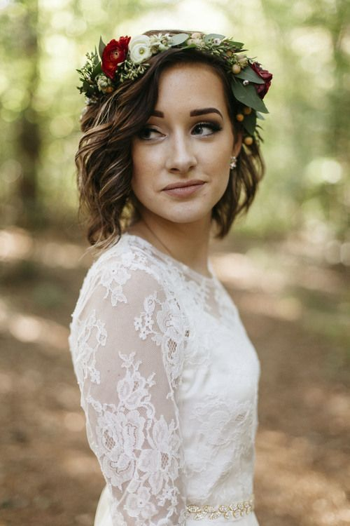 35 Modern Romantic Wedding Hairstyles For Short Hair - photo#38