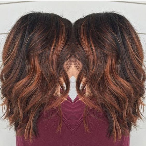 35 gorgeous highlights for brightening up dark brown hair part 7 get your dark brown locks ready for autumn with a copper balayage that could rival the colors of any fall foliage this hair color technique is easy to grow pmusecretfo Gallery