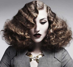 dramatic finger wave curls