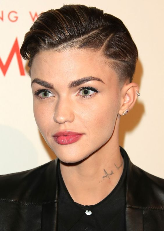 35 best haircuts for manageable thick hair of any length with masculine slicked back styling razor lines and geometric shaved patches this edgy haircut has a lot going on thick hair provides a welcome canvas urmus Gallery