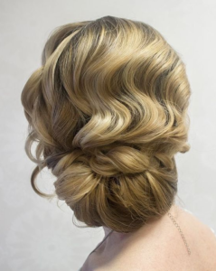 low updo with finger waves