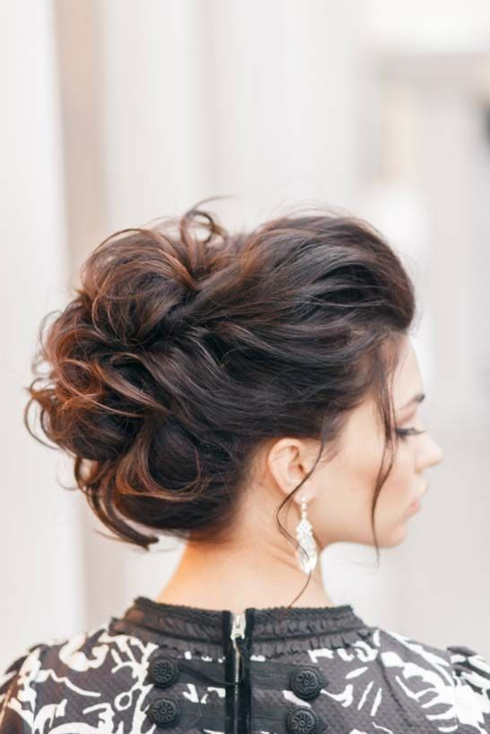 35 chic messy updo hairstyles for luxuriously long hair 18messy waves bun pmusecretfo Gallery