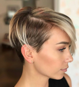polished undercut pixie