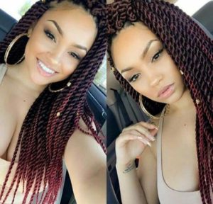 red ombre twists