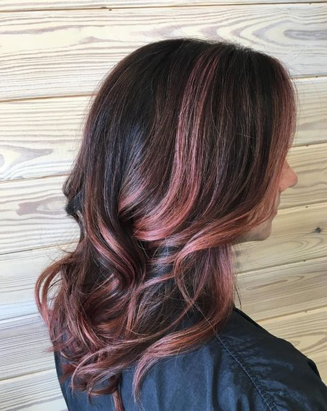 35 gorgeous highlights for brightening up dark brown hair rose gold balayageg pmusecretfo Gallery