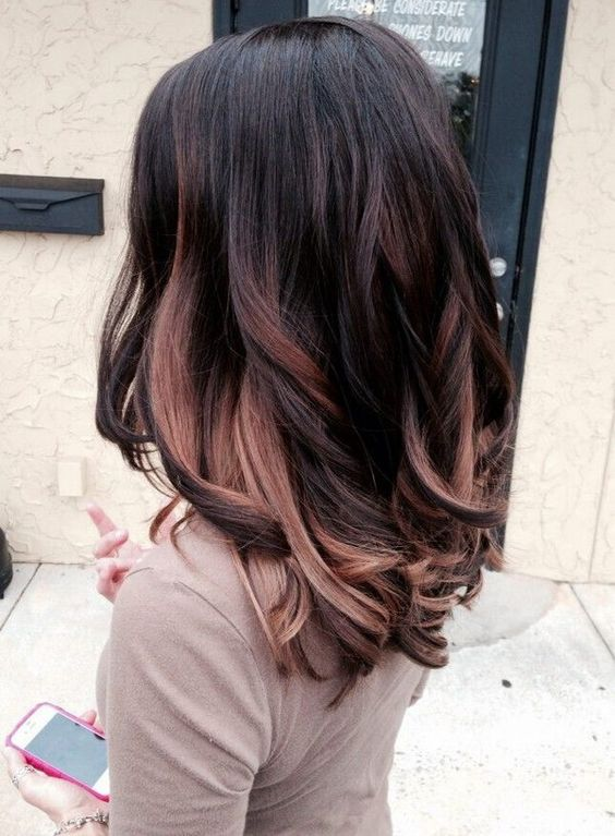 35 gorgeous highlights for brightening up dark brown hair with a fairly light shade of blush rose gold these highlights offer up a high contrast way to wear the trendy pinkish blonde shade against your dark brown pmusecretfo Gallery