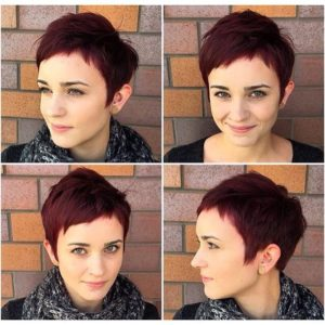 short bangs pixie