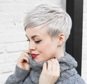 textured tapered pixie