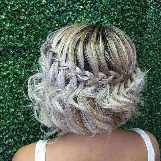 This Headband That Has Pieces Of Your Hair Cascading Through It While Anyone With A Longer Bob Can Wear Hairstyle On Their Wedding Day