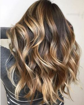 45 sunny and sophisticated brown with blonde highlight looks 21bold chunky brown hair blonde balayage pmusecretfo Gallery