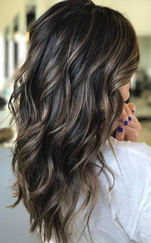 45 sunny and sophisticated brown with blonde highlight looks cool dark brown gets a nice dose of contrast with these ashy blonde highlights creating a look thats bold but still looks appropriate with similar cool pmusecretfo Choice Image