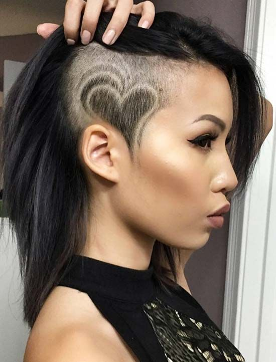 16Long hair Shaved Sides