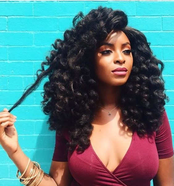 Blow Out Natural Hair Weave