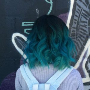 Muted teal and blue tones