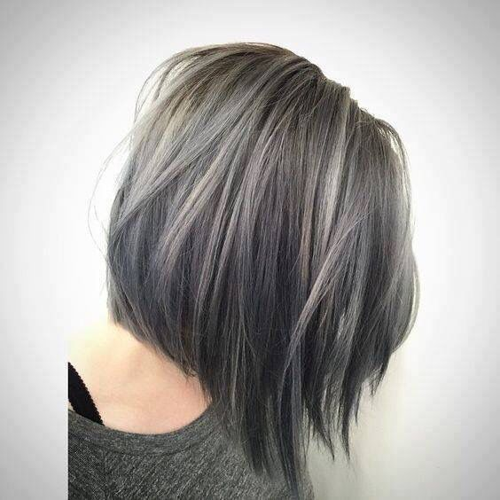35 smoky and sophisticated ash brown hair color looks part 24 colors over darker ones if youre want your bob haircut to look dimensional and endlessly thick with light grey highlights dancing over dark ash brown pmusecretfo Gallery