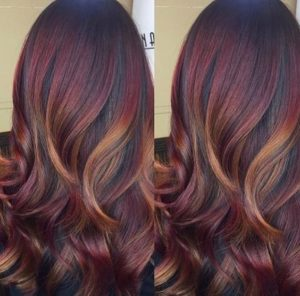 mahogany with gold contour