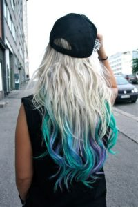 mermaid dip dye