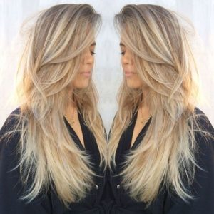 straight feathered layers