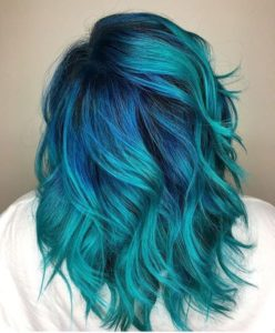 teal with blue shadow root