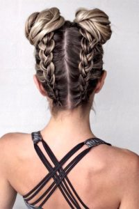 two french back braids