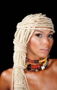 wrapped blonde locs