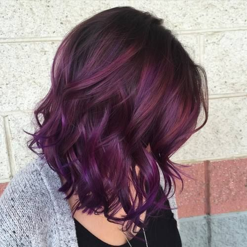 35 Dark Purple Hair Color Ideas