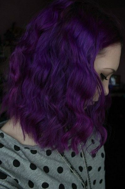 Dark Lavender Hair Color