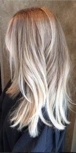 sandy blonde with butter ombre