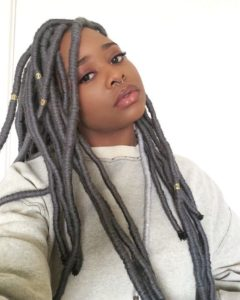 grey jumbo yarn locs