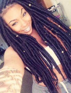 ultra long faux locs with marley hair